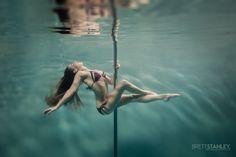 Pole Dance Fitness Underwater - Brett Stanley Photography