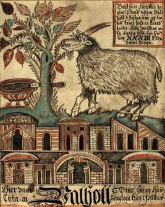 "THE YULE GOAT: traditional holidays fall between the last week of November and middle of January. Many of these ancient holidays were Christianized."" Post on the Yule Goat and Krampus. Yule Traditions, Yule Goat, Vikings Time, Viking Symbols, Writing Art, Norse Mythology, Ancient Artifacts, Illuminated Manuscript, Winter Holidays"