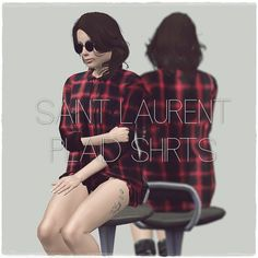 Saint Laurent FW13 Plaid Shirts by artsims  - Sims 3 Downloads CC Caboodle