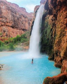 Havasu Falls just outside Grand Canyon National Park. Rated best waterfall hike in the southwest. Must do!