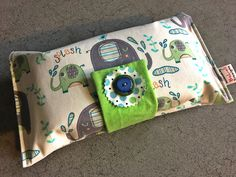 Baby or toddler funky nappy wallet.Blue Elephant Splash fabric design.Custom made to create a unique item for you & your baby.Made to Order. by BeLuliDesigns on Etsy