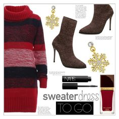 """""""Sweater Dress to Go"""" by mycherryblossom ❤ liked on Polyvore featuring Tom Ford and NARS Cosmetics"""