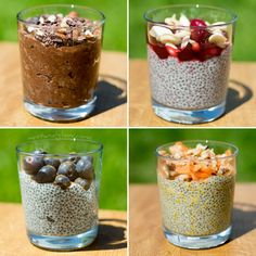 Overnight chia puddings to make a dairy free healthy breakfast. Includes recipes for Nutella style chia pudding, carrot cake chia pudding. Protein Chia Seed Pudding, Overnight Chia Pudding, Chocolate Chia Seed Pudding, Chocolate Hazelnut, Pastas Recipes, Milk Recipes, Pudding Recipes, Vegan Recipes, Vegan Pudding