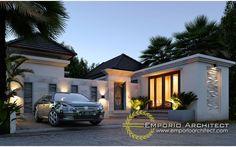 Jasa Arsitek Desain Villa Bapak Ardita Villa Design, Facade Design, Exterior Design, House Design, Architect Logo, Architect House, Style Villa, Bali House, Famous Architects
