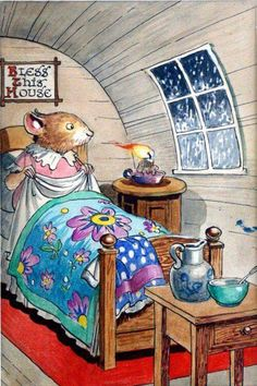 - Childhood Illustrations - vintage and new - Super Pin Photos ! Susan Wheeler, Illustrations Vintage, Marjolein Bastin, Cute Mouse, Beatrix Potter, Children's Book Illustration, Whimsical Art, Bedtime, Cute Art