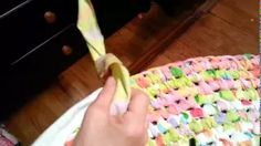 tooth brush rug making - YouTube