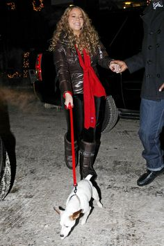 Mariah Carey Photos - Mariah Carey and her dog do some shopping in Aspen on Christmas Eve. Mariah went into a toy store and was looking at model cars with big rims. - Mariah Carey Takes Her Dog Shopping