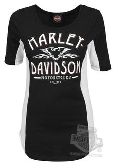 - Harley-Davidson® Womens Run The Night Open Neck Black Half Sleeve T-Shirt - Barnett Harley-Davidson® Motorcycle Style, Motorcycle Outfit, Biker Style, Motorcycle Fashion, Harley Davidson Parts, Harley Davidson Motorcycles, Harley Apparel, Harley T Shirts, Harley Gear