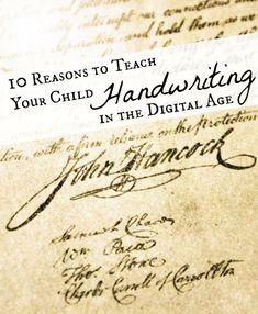 10 Reasons to Teach Kids Handwriting in the Digital Age