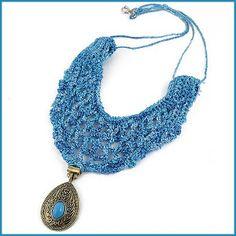Antoinette Vintage Statement Necklace - Free Crochet Pattern