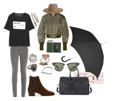 """""""Rainy travel day"""" by hedvigaarts on Polyvore featuring rag & bone, R13, Yves Saint Laurent, Mudd, Ray-Ban, Lacey Ryan, 3.1 Phillip Lim, Sole Society, Royce Leather and Zimmermann"""