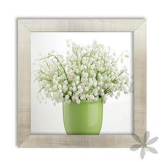 """""""FLOR MUGUETE"""" Alegre y primaveral #cuadro con marco, diseño """"flor muguete"""", perfecto para tu casa o incluso para la oficina. 10,40 €"""