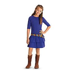 American Girl® Clothing: Saige's Dress & Belt for Girls Love this dress perfect length - will sew this since Ag's is too small