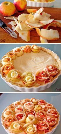 fancy apple pie Apple Slices, Apple Pie, Apple Recipes, Sweet Recipes, Kolaci I Torte, Just Eat It, Felt Food, Pastel, No Bake Cake
