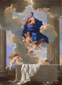 Nicolas Poussin; The Assumption of the Virgin, c. 1630/1632; National Gallery of Art, Washington, D.C.