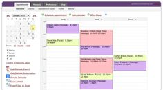Screenshot of managing appointments