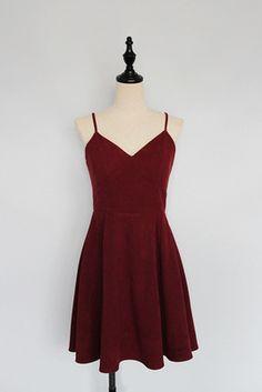 Simple Cute Wine Red Straps Homecoming Dresses, Velvet Party Dresses, Short Formal Dresses
