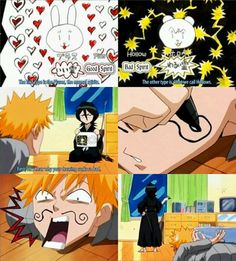 Bleach, Rukia X Ichigo, lols, drawings
