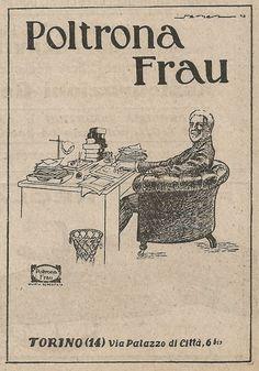 Z2277 Poltrona FRAU - Illustrazione - Pubblicità del 1927 - Vintage advertising