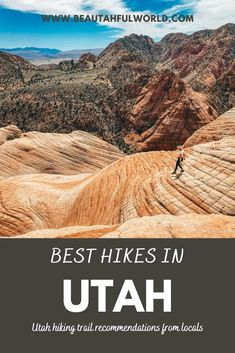 Are you an adventurer looking for the best hikes in Utah? This post covers the top 26 Utah hiking trails organized by area of the state. You will find Utah hikes, best Utah hiking, Salt Lake City Utah Hiking, Southern Utah Hiking, Northern Utah hiking, Waterfall hiking in Utah, Zion National Park, Utah hikes, Kanab Utah Hikes, Zion National Park hikes, easy Utah hikes, St George Utah hikes. Moab Utah hikes, best Utah hikes  #utah #hikeutah #utahhiking Utah Hiking Trails, Utah Hikes, Zion National Park, National Parks, Kanab Utah, St George Utah, Waterfall Hikes, Salt Lake City Utah, Naturaleza