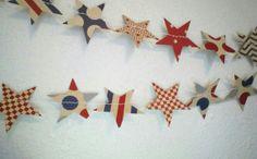 Independence Day Americana Star Garland by AzureAlchemy on Etsy, $13.00