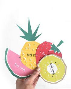 Tarjetas en forma de frutas para dejar mensajes en bodas, etc / Free printable fruity cards for well wishes Stimulife Health