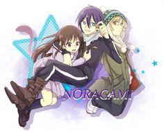 "Noragami """""""""""""""""""""""""""""""""""""""""""""""""""""" Hiyori-san,Yato-sama y Yukine-kun"""""""""""""""""""""""""""""""