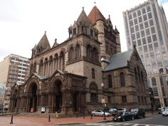 Trinity Church in the City of Boston, located in the Back Bay of Boston, Massachusetts, is a parish of the Episcopal Diocese of Massachusetts. The congregation was founded in 1733.  After its former site on Summer Street burned in the Great Boston Fire of 1872, the current church complex was erected. The church & parish house were designed by Henry Hobson Richardson & construction took place from 1872 to 1877, when the complex was consecrated.