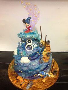Fantasia Disney themed Mickey mouse magic cake Mickey, pluto and donald duck
