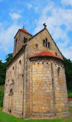 Romanesque church of The Ascension of Holy Virgin Mary from the beginning of 12th century in Mohelnice in Jizera mountains, Czechia