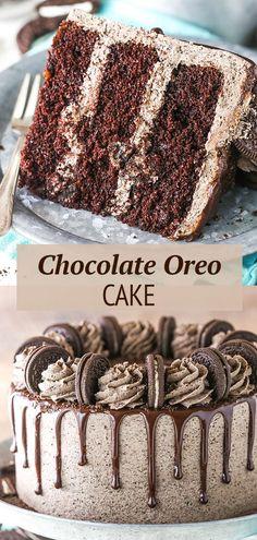 Oreo Cake Recipes, Oreo Desserts, Baking Recipes, Delicious Desserts, Oreo Recipe, Cookie Recipes, Keto Recipes, Vegetarian Recipes, Oreo Dessert