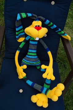 Revelry: Sabax's Dude rabbit 121 Rabbit dude crochet pattern from LittleOwlsHut  was used to make this guy.