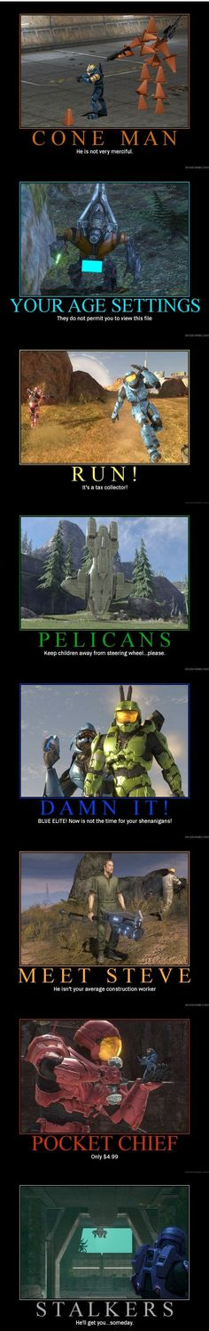Video Game Logic, Video Games Funny, Funny Games, Halo Funny, Halo Game, Red Vs Blue, Gaming Memes, Geek Culture, Best Games