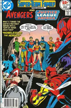 The Justice League leave the Avengers their old cave headquarters.