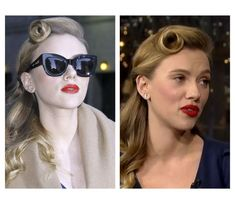 Vintage hairstyle with a modern twist