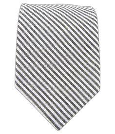 Seersucker - Gray (Cotton Skinny) | Ties, Bow Ties, and Pocket Squares | The Tie Bar