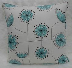 Miss Print Fabric ~ Dandelion Mobile, Porcelain with Powder Blue ~ Cushion Cover | eBay