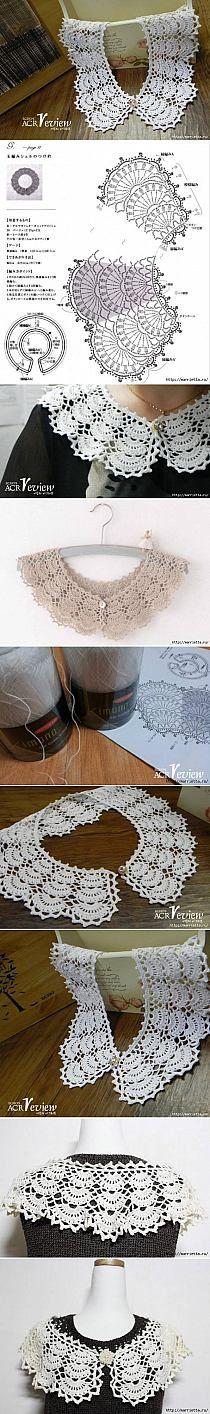 DIY Open Work Crochet Collar DIY Projects | UsefulDIY.c…