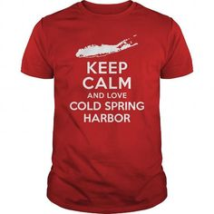 Awesome Tee Keep Calm and Love Cold Spring Harbor Long Island T shirts