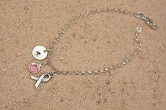Pink Ribbon Cancer Awareness Bracelet