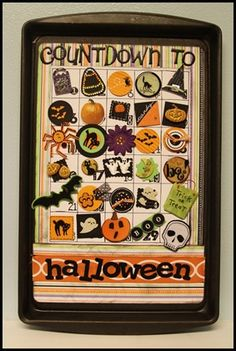 DIY Magnetized Halloween Count Down on Cookie Tray