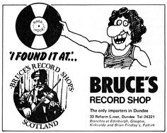 RETRO DUNDEE: BRUCE'S RECORD SHOP AD - 1978