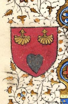 Heraldic Shield of Garin of Rouen | Pentecost | France | ca. 1420-1430 | Book of Hours | The Morgan Library & Museum