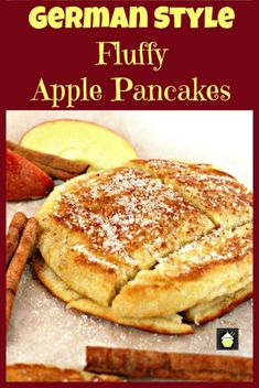 ****** 189 CALORIES PER PANCAKE ****** German Style Fluffy Apple Pancakes. Delicious, quick and easy recipe and these are certainly fluffy! Serve warm with a sprinkling of sugar and a dash of cinnamon. Pancakes Easy, Breakfast Pancakes, Breakfast Items, Breakfast Dishes, Breakfast Recipes, Pancake Recipes, Homemade Pancakes, Fluffy Pancakes, Bread Recipes