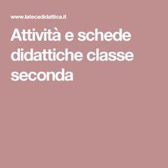 Attività e schede didattiche classe seconda