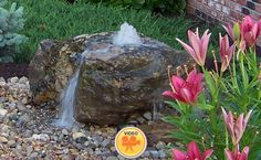 Bubbling Boulders, Fountains, and Stone Accessories | Greenwood, IN Landscape Design & Installation Experts | Ambiance Gardens | Serving Greenwood, IN