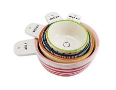 """""""Measure Twice"""" Measuring Cups, Set of 4 by Rae Dunn"""