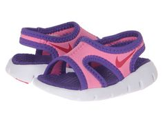 Nike Kids Sunray 9 (Infant/Toddler) Pink Glow/Vivid Pink/White/Purple Venom - 6pm.com