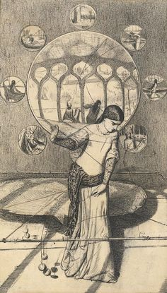 William Holman Hunt, The Lady of Shalott, 1850