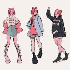 barraza // b r i c k ( Fashion Design Drawings, Fashion Sketches, Drawing Fashion, Art Drawings Sketches, Cute Drawings, Arte Do Kawaii, What Is Fashion, Poses References, Arte Sketchbook